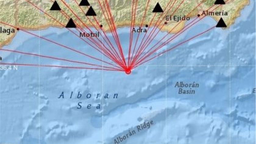 El epicentro de los seismos se ha situado en el Mar de Alborán.