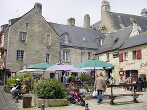 Photo: A typical small square in Old Quimper.
