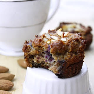 Guilt-free, Grain-free Almond Blueberry Muffins.