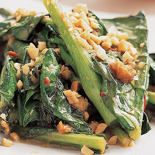 Chinese Broccoli With Ginger, Lime And Peanuts