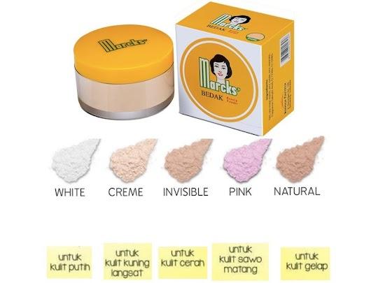 Bedak tabur Beauty Powder MARCKS active ringan halus cantik alami nyaman untuk aktif aktifitas padat