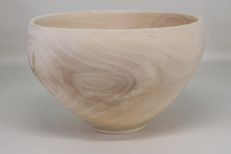 "Photo: Tim Aley 9"" x 5 1/2"" bowl [sycamore]"
