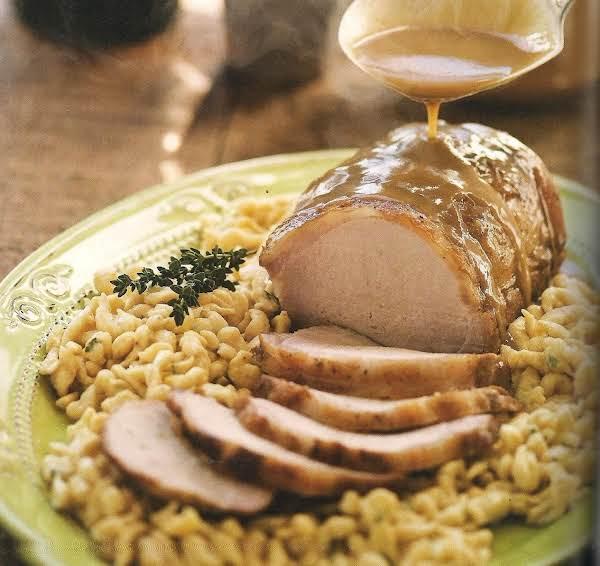 Pork Roast With Hard Cider Gravy