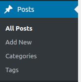 wordpress basics post settings