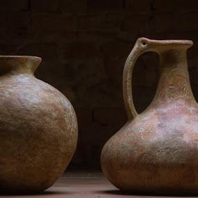 Couple by Raffaello Terreni - Artistic Objects Still Life ( amphora, still life, pitcher )