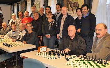 Photo: All together. Chigorin Chess Club and Balkan Chess Club Teams.