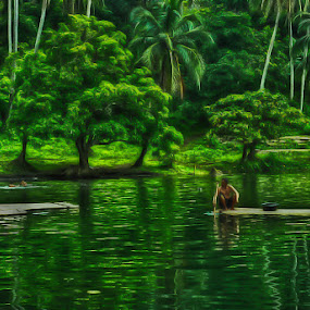 Lagoon by Eewoj Alcala - Landscapes Waterscapes