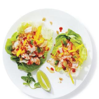 Shrimp and Mango Lettuce Wraps.