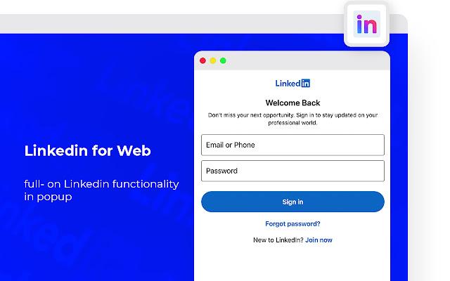 LinkedIn for Web