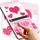 Pink Hearts Keyboard icon