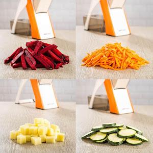 Feliator legume Spring Slicer, Alb/Portocaliu
