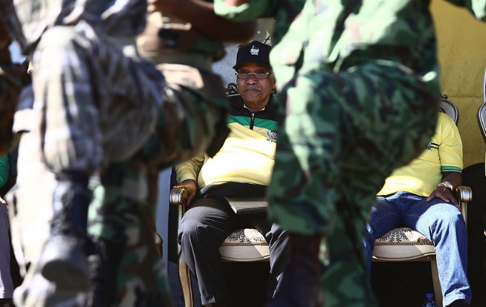 Former president Jacob Zuma at an ANC rally. Picture: THULI DLAMINI