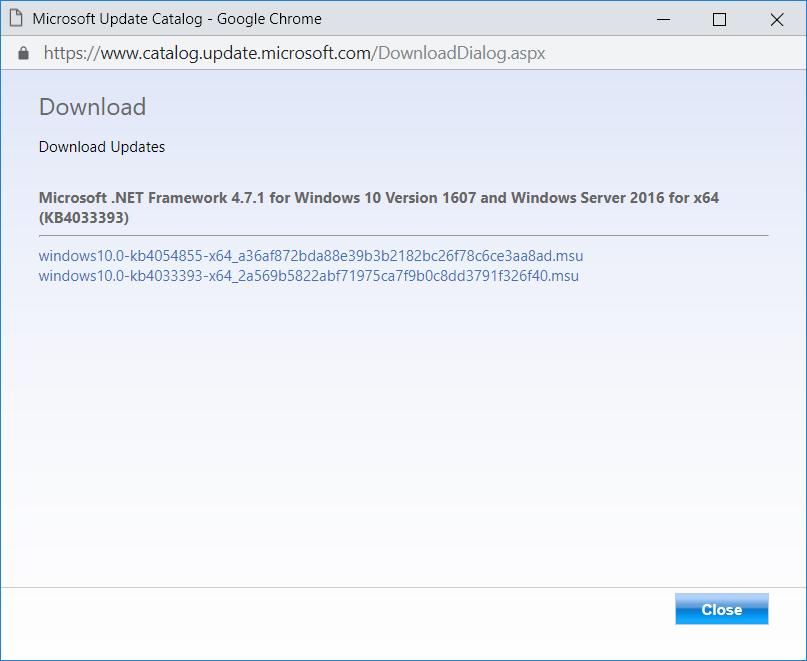 Terence Luk: Installing  NET Framework 4 7 1 on Windows