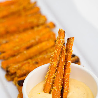 Sweet Potato Fries with Spicy Honey Mustard Dip