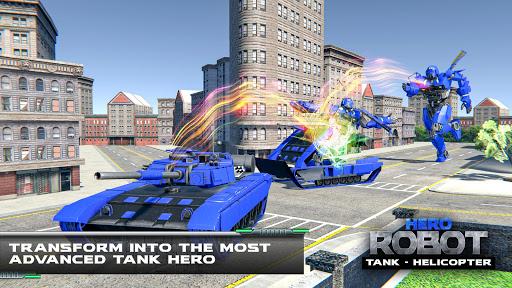 Helicopter Transform War Robot Hero: Tank Shooting 1.1 screenshots 12