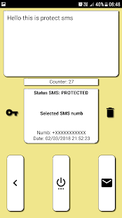 Protect SMS Pro -Lock and Send SMS -En/De Crypt Screenshot