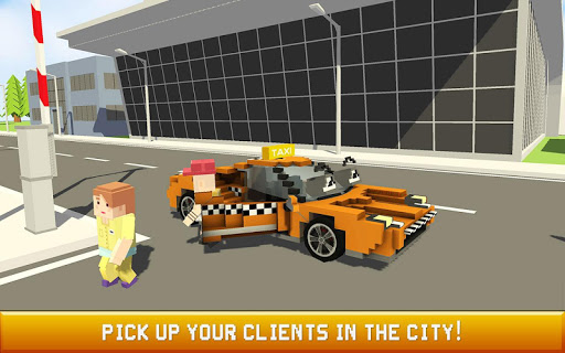 Blocky Taxi Driver: City Rush 1.3 screenshots 3