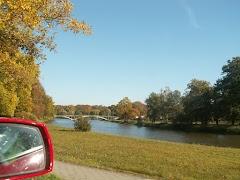 Parkplatz am Feldweg in der Lausitz