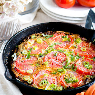 Potato, Ham and Tomato Frittata.