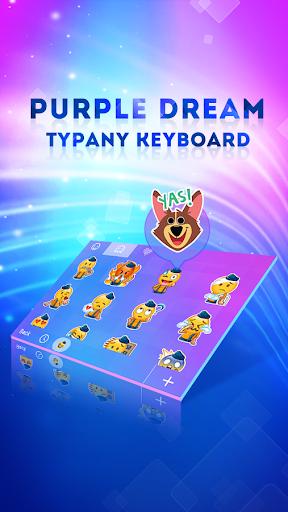 mod Purple Dream Typany Keyboard 4.5 screenshots 2