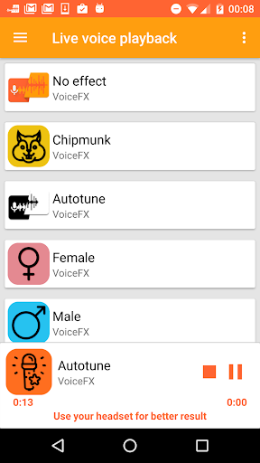 VoiceFX - Voice Changer with voice effects 1.1.0h screenshots 5
