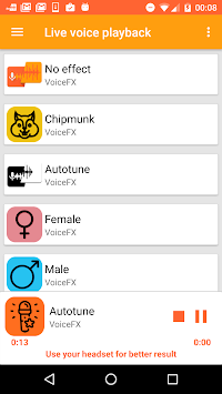 VoiceFX: Voice Effects Changer apk screenshot