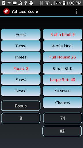 Yahtzee Score Keeper