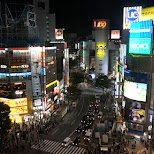 Shibuya crossing with Shibuya 109 in Tokyo in Tokyo, Tokyo, Japan