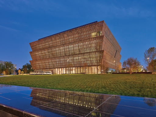 Photo of Smithsonian National Museum of African American History and Culture at Dusk, View from Constitution Avenue