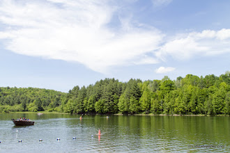 Photo: Boating away from the beach area at Waterbury Center State Park by Karalyn Mark