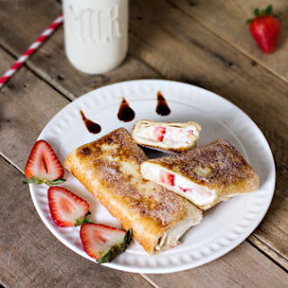 Mexican Strawberry Cheesecake Chimichangas.