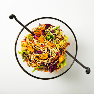 "Vegan Chinese ""Chicken"" (Chickpea) Salad."
