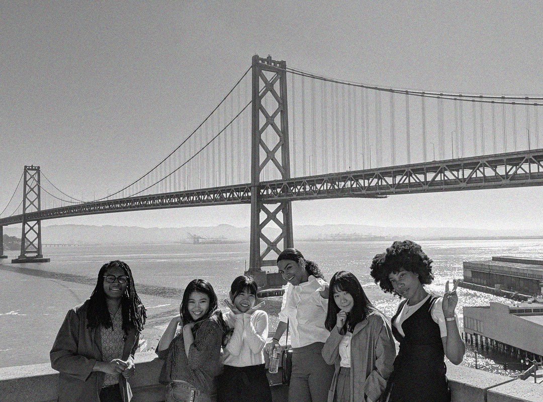 Group of Fellowship Women in front of the Golden Gate Bridge