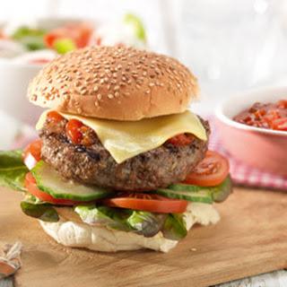 Broodje Hamburger Met Barbecuesaus
