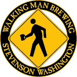 Logo of Walking Man Blootvoeste Bruin
