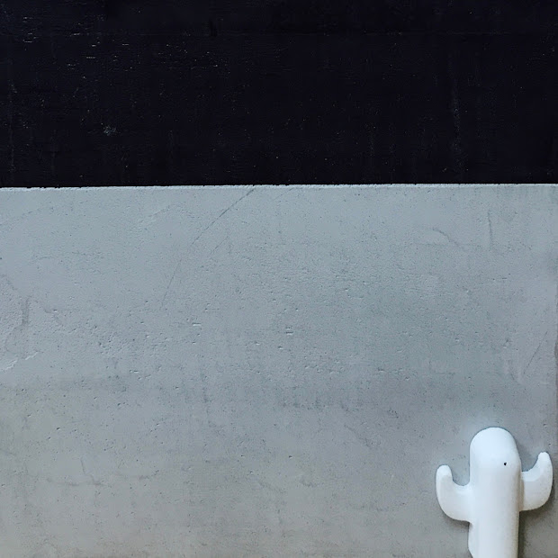 béton ciré anthracite et gris clair