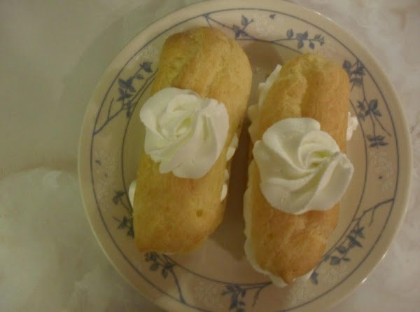 Cut tops off of the eclair shells. (You don't need to take out the...