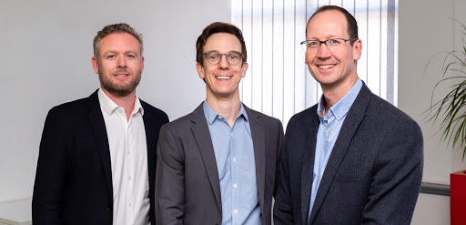 Guidepost's founders are from left: Graham Rowe, Richard Johnson and Prof David Segal.