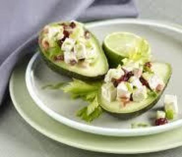 Stuffed Avocado With Cranberry Chicken Salad Recipe