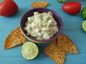 Photo: Lightened Up Guacamole - A creamy, healthy dip made with avocados, greek yogurt, tomatoes, jalapenos and seasoning.  http://www.peanutbutterandpeppers.com/2013/05/01/lightened-up-guacamole/  #avocadorecipes   #guacamole   #healthyrecipes   #mexicanrecipes   #cincodemayorecipes   #greekyogurt   #appetizerrecipes