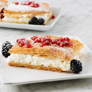 Napoleons with Pomegranate or Berries