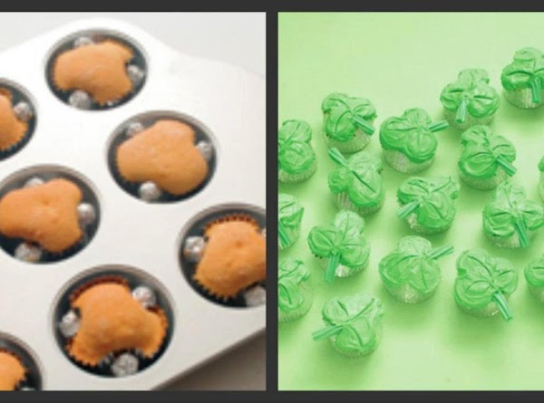 Shamrock Cup Cakes Made Easy Recipe