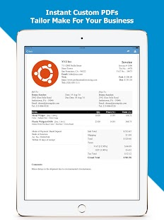 Invoice PDF  Free - Professional Invoicing- screenshot thumbnail