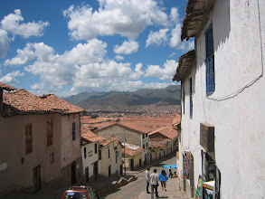 Photo: Cuzco is nestled in the moutains. Hills like this one are everywhere, and huge pain because you are already at like 10,000 feet above sea level.