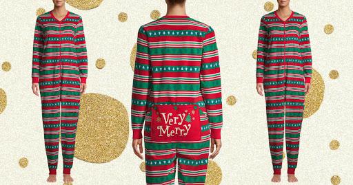 Women's Holiday Onesie Pajamas Only $7.45 on Walmart.com (Regularly $20)