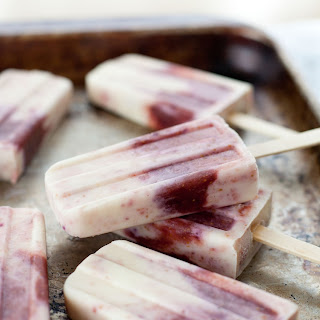 Honey Roasted Fig And Goat Cheese Popsicles.