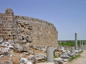 Photo: Perge Greek Gate, outside wall