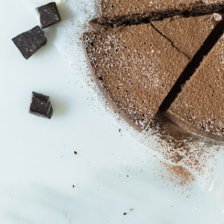 Cinnamon Spiked Flourless Chocolate Cake