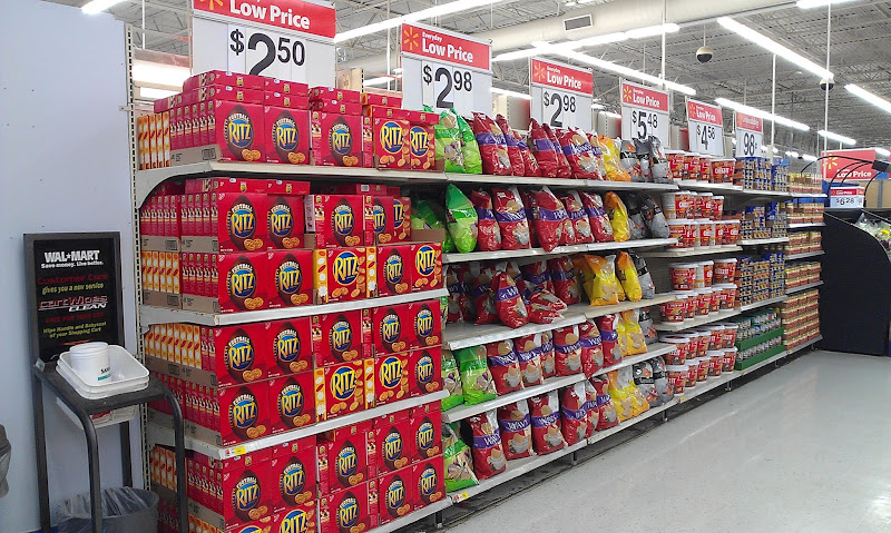 Photo: We're right in the middle of football season and the snacks are front and center at Walmart.