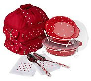 Photo: I was shopping for the Old World Ovenware set, these sets with the polka dots really stood out to me.  I also love that many came with carry bags.